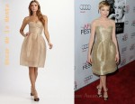 In Michelle Williams's Closet - Oscar De La Renta Strapless Tulle Dress