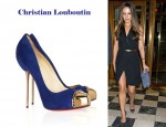 In Mila Kunis' Closet - Christian Louboutin Metallip Suede And Metal Pumps