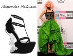 In Nicki Minaj's Closet - Alexander McQueen Armour Wedge Sandal