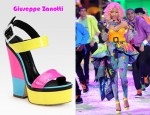 In Nicki Minaj's Closet - Giuseppe Zanotti Patent Leather Colorblock Wedge Sandals