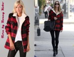 In Nicky Hilton's Closet - Torn by Ronny Kobo Taylor Lumberjack Jacket and Ray-Ban Original Wayfarer Sunglasses