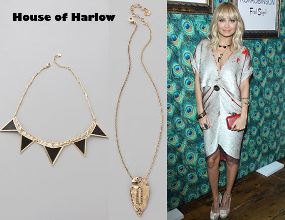In nicole richies closet house of harlow triangle armor five who nicole richie wearing a house of harlow mozeypictures Image collections