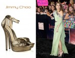 In Nikki Reed's Closet - Jimmy Choo Greta Lamé-Covered Suede Sandals