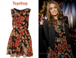 In Nikki Reed's Closet - Topshop Petite Intense Floral Print Dress