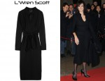 In Penelope Cruz' Closet - L'Wren Scott Wool-Blend Crepe Shirt Dress