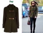In Pippa Middleton's Closet - Fay Leather Buckle Coat