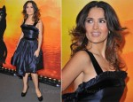 Salma Hayek In YSL Edition Soir - 'Puss In Boots' Paris Premiere