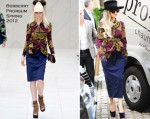 Sidewalk Style: Lady Gaga In Burberry Prorsum