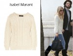 In Sienna Miller's Closet - Isabel Marant Anui Cable Knit Alpaca Blend Sweater