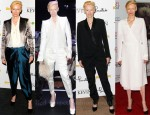 Catching Up With Tilda Swinton In Haider Ackermann, Anne Valérie Hash Couture & Lanvin