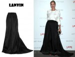 In Uma Thurman's Closet - Lanvin Silk-Faille Ballroom Skirt