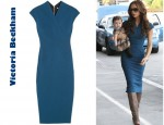 In Victoria Beckham's Closet - Victoria Beckham Silk And Wool Blend Double Crepe Dress