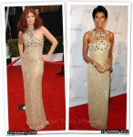 Who Wore Oscar de la Renta Better? Debra Messing or Natalie Cole