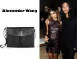 In Zoe Kravitz's Closet - Alexander Wang Lydia Ostrich-Effect Leather Clutch