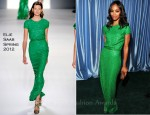 Zoe Saldana In Elie Saab - 2011 Latin Grammy Awards