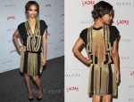 Zoe Saldana In Gucci - LACMA's Art and Film Gala