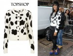 In Kelly Rowland's Closet - Topshop Knitted Dalmatian Cardigan and Givenchy Antigona Bag