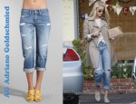 Amber Heard's AG Adriano Goldschmied Ex-Boyfriend Crop Jeans & Jeffrey Campbell Elegant Studded Loafers