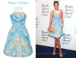 Amber Le Bon's Peter Pilotto Compass Printed Cotton-Blend Dress