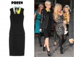 Ashlee Simpson Preen Kimono-Collar Stretch-Crepe Dress