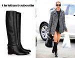 Ashley Tisdale's Christian Louboutin Cate Chain-Detailed Leather Boots