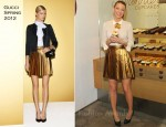 Blake Lively In Gucci - Smores Charity Cupcake Launch At Sprinkles
