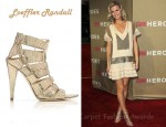 Brooklyn Decker's Loeffler Randall Natane Lace-Up Stiletto