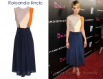 Carey Mulligan's Roksanda Ilincic Contrasting Colour Blocked Crepe Dress