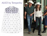 Catherine Duchess of Cambridge's ALICE by Temperley Armonia Embroidered Cotton Blouse