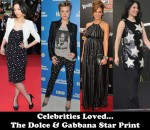Celebrities Loved...The Dolce & Gabbana Star Print