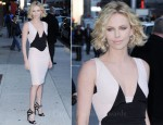 Charlize Theron In Antonio Berardi - 'The Late Show With David Letterman'