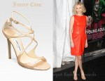 Charlize Theron's Jimmy Choo Lance Strappy Patent Leather Sandals