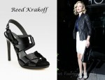 Charlize Theron's Reed Krakoff Boxer Patent Leather and Suede Slingback Sandals