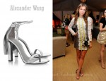 Dasha Zhukova's Alexander Wang Fabiana Metallic Leather Sandals