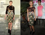 Dianna Agron In Mary Katrantzou - NYLON December/January Issue Party