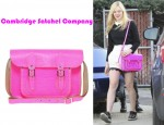 Elle Fanning's Cambridge Satchel Company Fluorescent Satchel