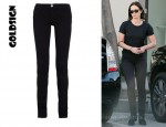 Emily Blunt's Goldsign Misfit Mid-Rise Skinny Jeans