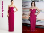 Emily Blunt's Notte by Marchesa Strapless Silk Gown