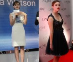 Emma Watson In Luisa Beccaria & Elie Saab Couture - Lancôme Dinner & Press Conference