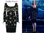 Florence Welch's Emilio Pucci Crystal-Embellished Velvet Dress