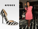 Gabrielle Union's Gucci Noah Animal-Print Pony Hair and Leather Pumps