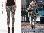 Gisele Bundchen's Rag & Bone Feather Print Skinny Jeans