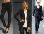 Gwen Stefani's L.A.M.B Plaid Window Pane Blazer and L.A.M.B Window Pane Plaid Pant