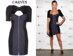 Irina Shayk's Carven Bustier Dress