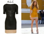 Jennifer Lopez' A.L.C Sienna Stretch-Leather Dress