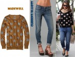 Jessica Alba's Current/Elliott Roller Jeans and Madewell Spotdot Sweater