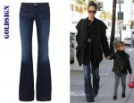 Jessica Alba's Goldsign Virginia Low-Rise Flared Jeans