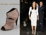 Jessica Biel's Blonde Ambition Reve Open Toe Cutout Booties