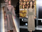Jessica Biel In Valentino - 'New Year's Eve' New York Premiere