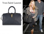 Jessica Simpson's Yves Saint Laurent Cabas Chyc Leather Tote